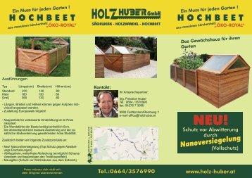 Hochbeet Öko Royal von Holz Huber in Feldkirchen
