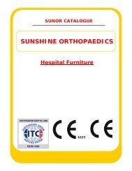 SUNOR Catalogue Hospital Furniture - IndiaMART