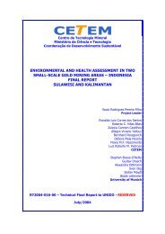 Environmental and health assessment in two small-scale