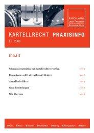 kartellrecht_praxisinfo 01 - Kapellmann und Partner Rechtsanwälte