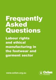 Labour rights and ethical manufacturing in the ... - Oxfam Australia