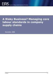 A Risky Business? Managing core labour standards in ... - Eiris