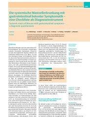 Die systemische Mastzellerkrankung mit gastrointestinal betonter ...