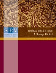 Employer Brand in India - Society for Human Resource Management