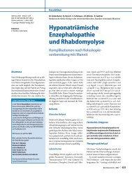 Hyponatriämische Enzephalopathie und ... - Erkan Arslan