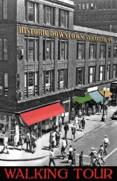 WALKING TOUR - Downtown Committee of Syracuse