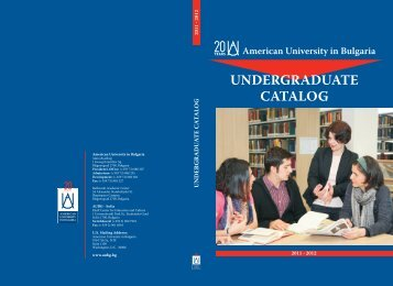 Academic Catalog 2011 2012 - American University in Bulgaria