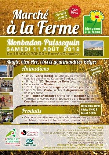Monbadon-Puisseguin - Bienvenue à la Ferme
