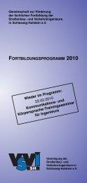 fortbildungsprogramm 2010 - Baugewerbeverband Schleswig ...