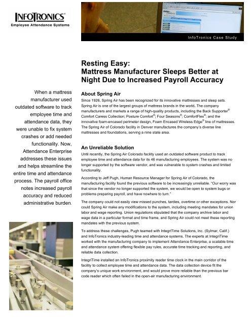 Resting Easy: Mattress Manufacturer Sleeps Better at