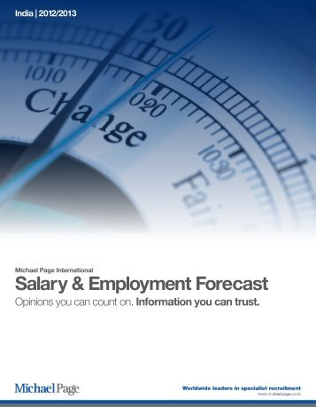 View full Salary & Employment Forecast - Michael Page