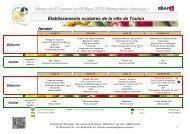 les menus des restaurants scolaires du 7 janvier - Mairie de Toulon