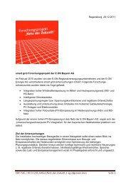 Smart Grid bei E.ON Bayern - Artikel