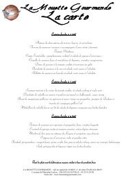 carte de la mouette 2010 - La Mouette Gourmande