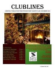 December 2012 - Stevens Point Country Club
