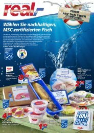 Wählen Sie nachhaltigen, MSC-zertifizierten Fisch