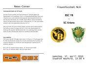 SC Kriens - BSC Young Boys