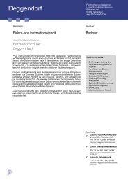 Fachhochschule Deggendorf - bayern photonics eV