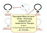 Neurogene Blase bei spina bifida - Einteilung, Diagnostik ... - ASbH