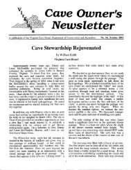 October 2002 - Issue No. 14 - Virginia Department of Conservation ...