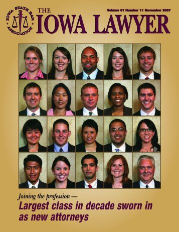Largest class in decade sworn in as new - The Iowa State Bar ...