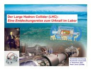 Der Large Hadron Collider (LHC): Eine Entdeckungsreise zum ...