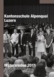 Kantonsschule Alpenquai Luzern Maturareden 2011