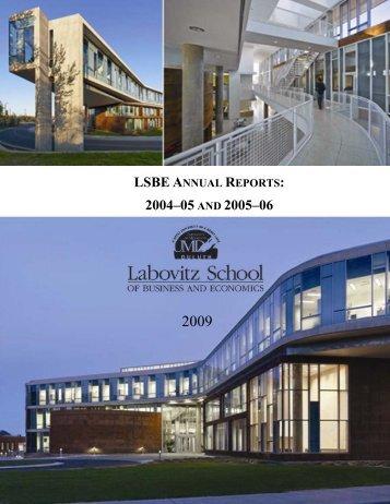 lsbe annual reports: 2004–05 and 2005–06 - University of Minnesota