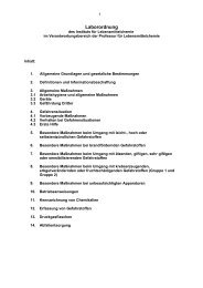 Laborordnung - Fachrichtung Chemie und Lebensmittelchemie