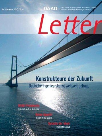 Konstrukteure der Zukunft - DAAD-magazin