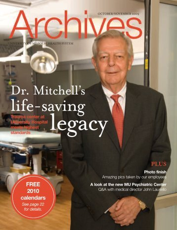 A Life-Saving Legacy - University of Missouri Health Sciences Center