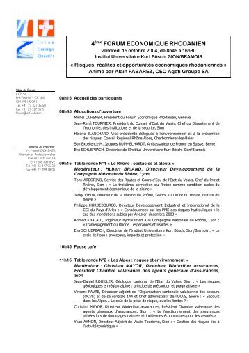 4ème FORUM ECONOMIQUE RHODANIEN - CCF SA