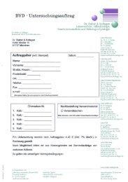 BVD Untersuchungsauftrag Labor Dr. Staber & Kollegen