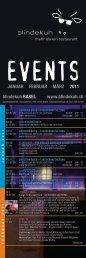 blindekuh BASEL www.blindekuh.ch JANUAR FEBRUAR MÄRZ 2011