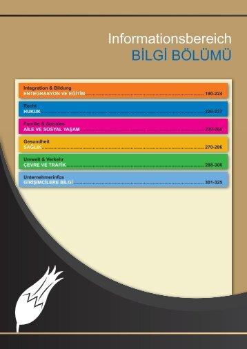 Informationsbereich BİLGİ BÖLÜMÜ - Altin Adresler