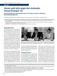 Hessen geht aktiv gegen den drohenden Hausarztmangel+ vor