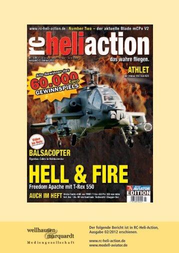 Der folgende Bericht ist in RC-Heli-Action, Ausgabe 02/2012 ...