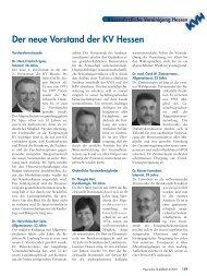 Der neue Vorstand der KV Hessen