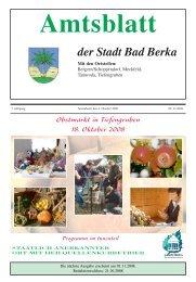 Ausgabe 11/2008 - Kurstadt Bad Berka