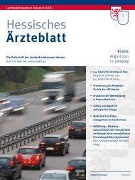 Hessisches Ärzteblatt August 2011 - Landesärztekammer Hessen