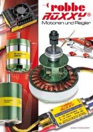 Prospekt Motoren und Regler-Serie - Robbe