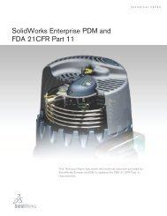 Solidworks Enterprise PDM and FDA 21CFR Part 11 - c+e forum AG