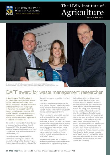 2012-April newsletter - The UWA Institute of Agriculture - The ...