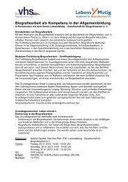 Biografiearbeit als Kompetenz in der Allgemeinbildung - VHS ...