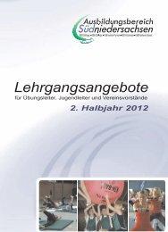 2. Halbjahr 2012 - Stadtsportbund Göttingen eV