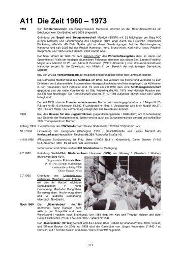 A11 Die Zeit 1960 – 1973 - Mardorf