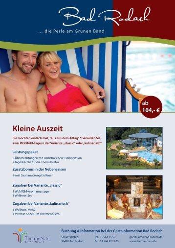 Kleine Auszeit - Bad Rodach