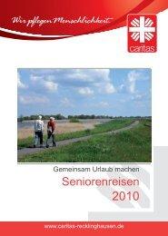 Seniorenreisen 2010 - Caritasverband für die Stadt Recklinghausen ...
