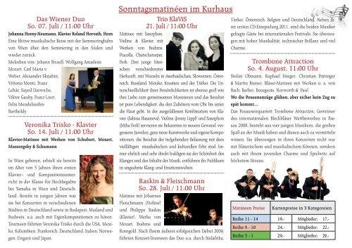 Sommerfestival 2013 - Semmering