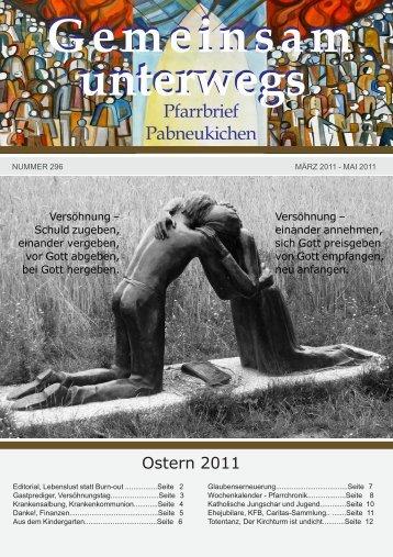 Pfarrblatt Ostern 2011 - Pfarre Pabneukirchen - Diözese Linz